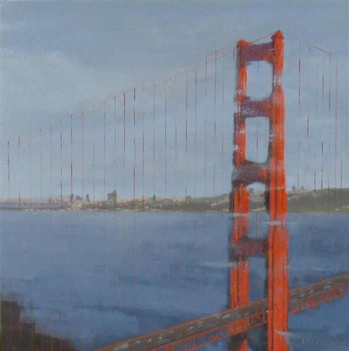 Original art for sale at UGallery.com | Marin's View by JIM LELAND | $950 |  | 24' h x 24' w | ..\art\oil-painting-Marin-s-View