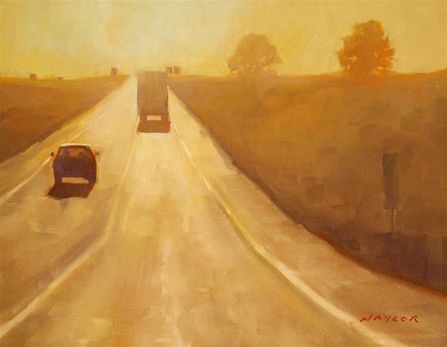 Original art for sale at UGallery.com | Road Trip by RODGERS NAYLOR | $675 |  | 11' h x 14' w | ..\art\oil-painting-Road-Trip-58857