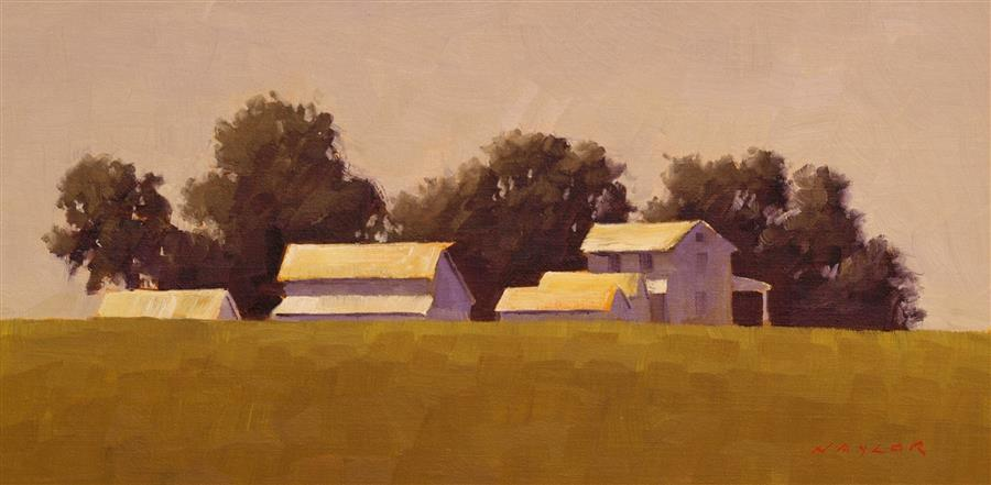 Original art for sale at UGallery.com | Iowa Farm by Rodgers Naylor | $575 | oil painting | 8' h x 16' w | ..\art\oil-painting-Iowa-Farm