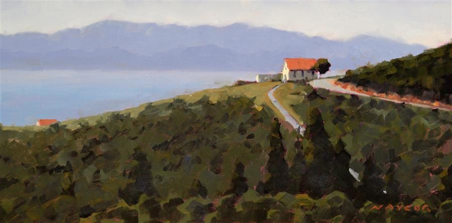 Original art for sale at UGallery.com | A Home with a View by RODGERS NAYLOR | $575 |  | 8' h x 16' w | ..\art\oil-painting-A-Home-with-a-View