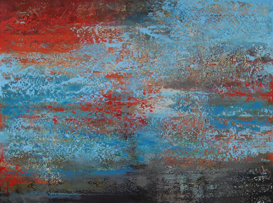 Original art for sale at UGallery.com | Intention E by Janet Hamilton | $4,050 | oil painting | 36' h x 48' w | ..\art\oil-painting-Intention-E