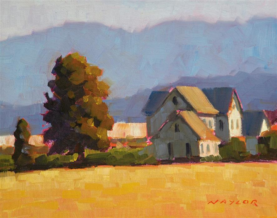 Original art for sale at UGallery.com | Farm House by Rodgers Naylor | $475 | oil painting | 8' h x 10' w | ..\art\oil-painting-Farm-House-58890
