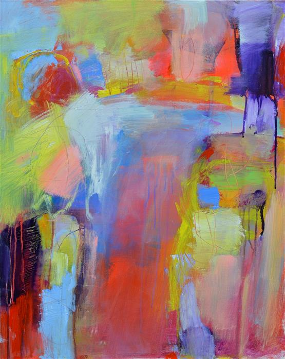 Original art for sale at UGallery.com | Ethereal Abstraction 18 by Patrick O'Boyle | $675 | acrylic painting | 30' h x 24' w | ..\art\acrylic-painting-Ethereal-Abstraction-18