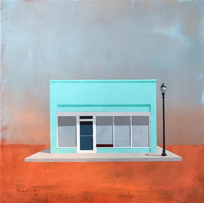 Original art for sale at UGallery.com | Storefront by JUSTIN WHEATLEY | $575 |  | 12' h x 12' w | ..\art\acrylic-painting-Storefront