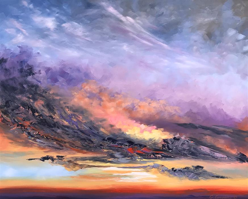 Original art for sale at UGallery.com | Pursue Beyond by CYNDY CARSTENS | $2,825 |  | 24' h x 30' w | ..\art\oil-painting-Pursue-Beyond