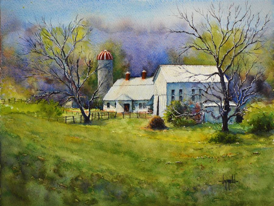 Original art for sale at UGallery.com | Early May by JUDY MUDD | $850 |  | 12' h x 16' w | ..\art\watercolor-painting-Early-May
