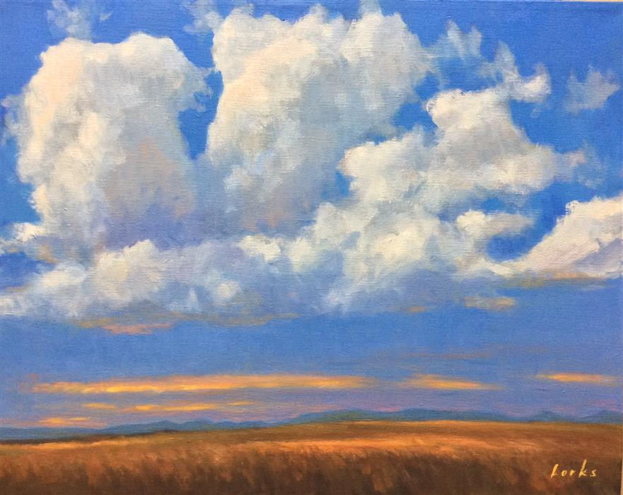 Original art for sale at UGallery.com | Buildup on the Prairie by DAVID FORKS | $875 |  | 16' h x 20' w | ..\art\oil-painting-Buildup-on-the-Prairie