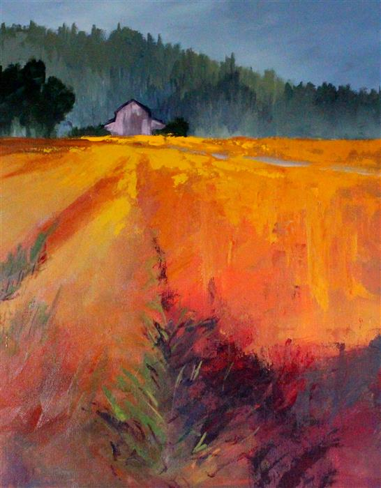 Original art for sale at UGallery.com | Rural by Nancy Merkle | $650 | acrylic painting | 20' h x 16' w | ..\art\acrylic-painting-Rural