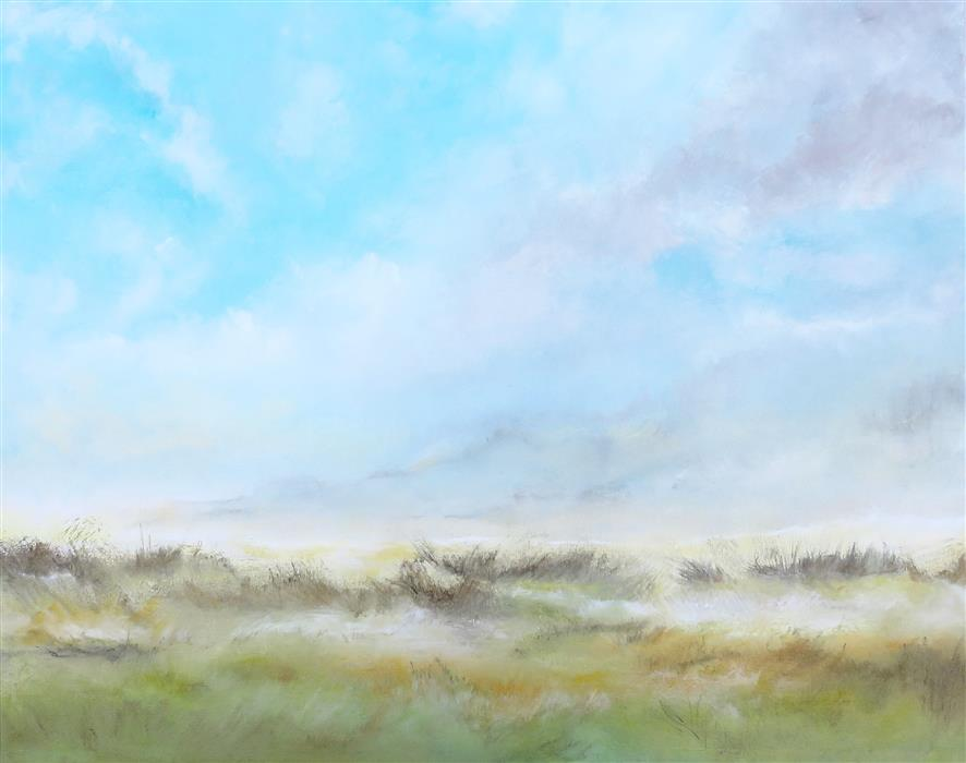 Original art for sale at UGallery.com | Grasslands II by Jenn Williamson | $1,300 | acrylic painting | 24' h x 30' w | ..\art\acrylic-painting-Grasslands-II