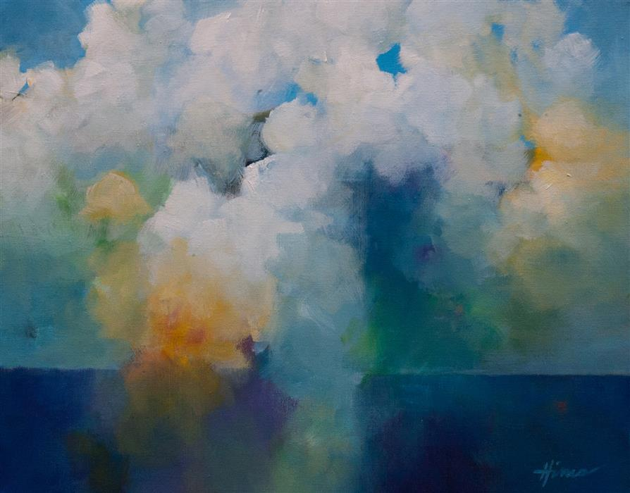 Original art for sale at UGallery.com | Translucent Skies by THE ARTIST HINES | $625 |  | 16' h x 20' w | ..\art\acrylic-painting-Translucent-Skies