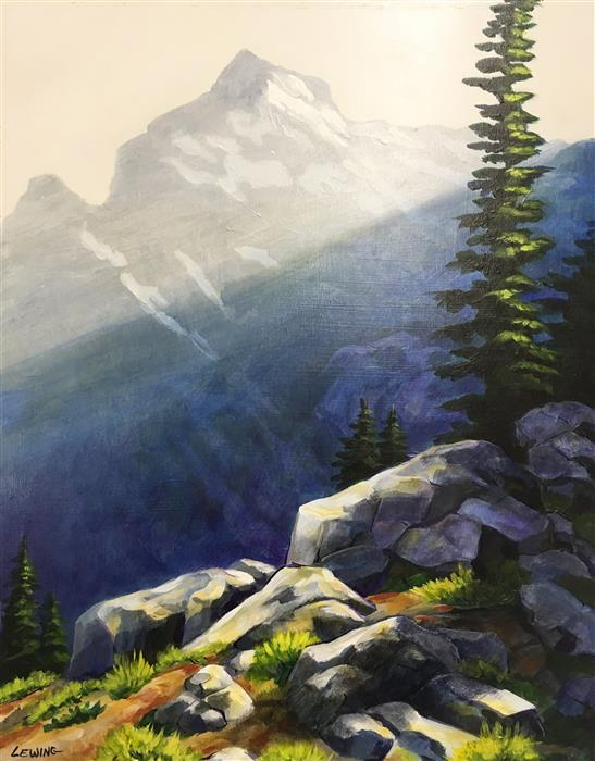 Original art for sale at UGallery.com | Cathedral Pass by PAUL LEWING | $450 |  | 18' h x 14' w | ..\art\acrylic-painting-Cathedral-Pass