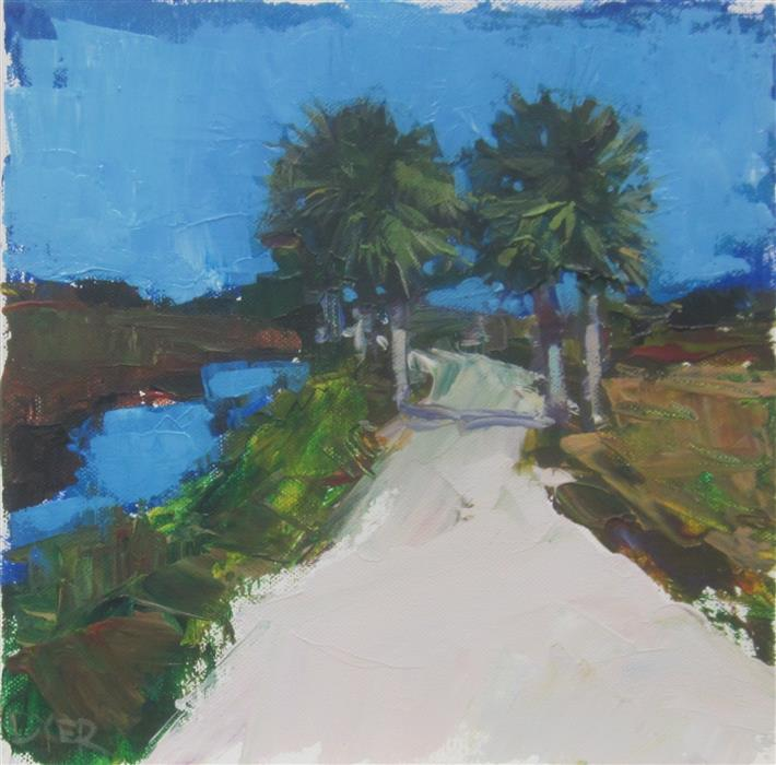 Original art for sale at UGallery.com | Florida Road by JANET DYER | $225 |  | 10' h x 10' w | ..\art\acrylic-painting-Florida-Road
