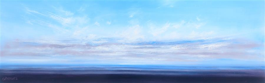 Original art for sale at UGallery.com | Cool Waters by GEORGE PEEBLES | $4,650 |  | 24' h x 72' w | ..\art\oil-painting-Cool-Waters