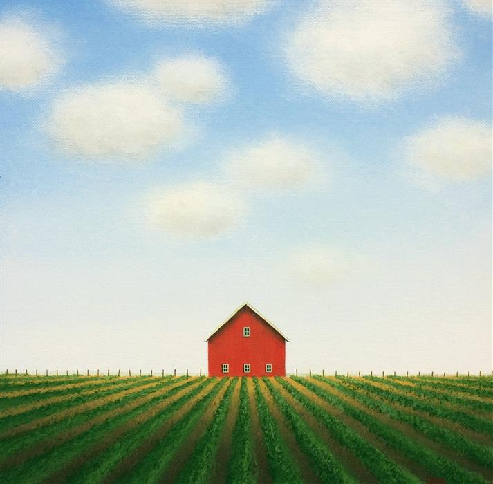 Original art for sale at UGallery.com | In the Summer Fields by SHARON  FRANCE | $575 |  | 12' h x 12' w | ..\art\acrylic-painting-In-the-Summer-Fields