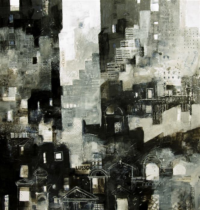 Original art for sale at UGallery.com | Citylife 4 by ALESSANDRO ANDREUCCETTI | $1,300 |  | 27.16' h x 26' w | ..\art\acrylic-painting-Citylife-4