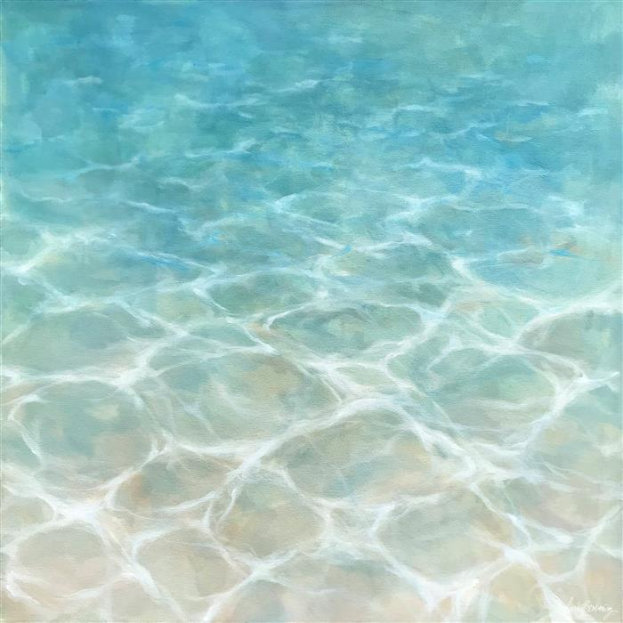 Original art for sale at UGallery.com | White Sand by LAURA BROWNING | $1,150 |  | 24' h x 24' w | ..\art\oil-painting-White-Sand