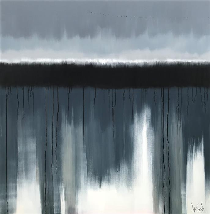 Original art for sale at UGallery.com | Quietude by MARION WOOD | $3,875 |  | 48' h x 48' w | ..\art\acrylic-painting-Quietude
