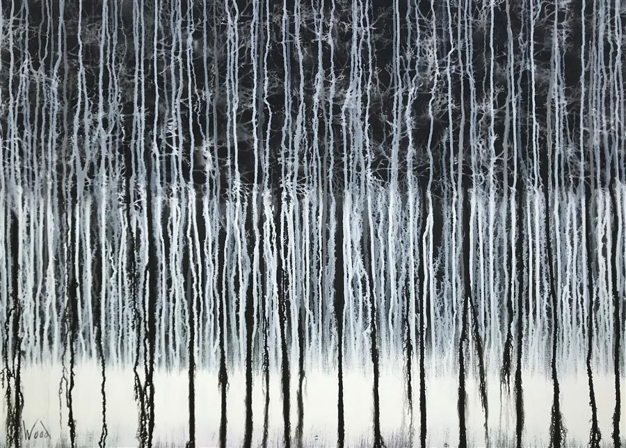 Original art for sale at UGallery.com | Winter Woodland by MARION WOOD | $2,700 |  | 30' h x 40' w | ..\art\acrylic-painting-Winter-Woodland