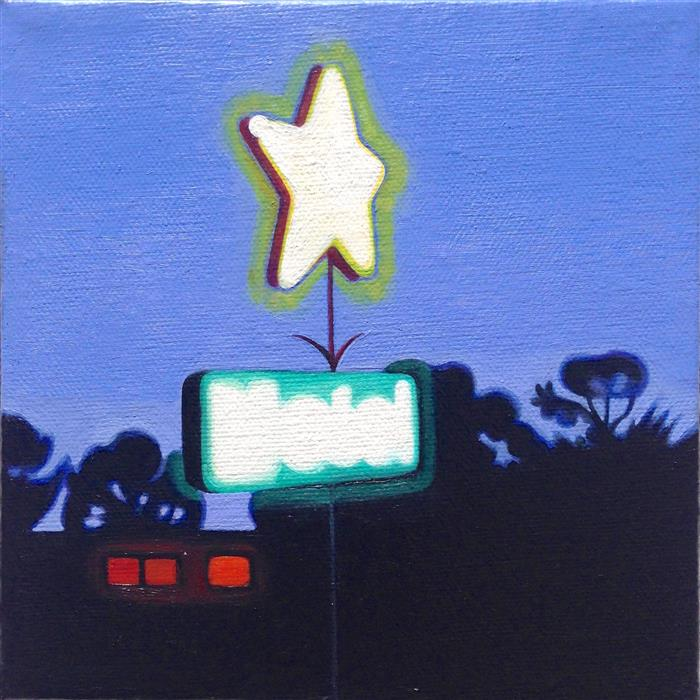 Original art for sale at UGallery.com | Little Star by HADLEY NORTHROP | $275 |  | 6' h x 6' w | ..\art\oil-painting-Little-Star