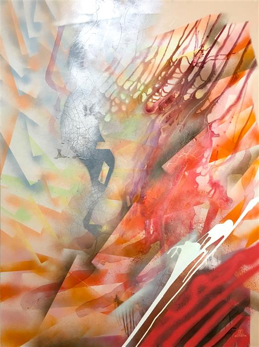 Original art for sale at UGallery.com | Rise by JANINE ETHERINGTON | $2,325 |  | 48' h x 36' w | ..\art\acrylic-painting-Rise