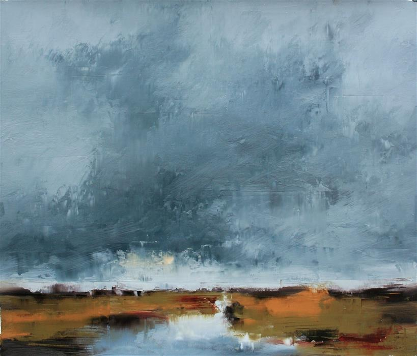 Original art for sale at UGallery.com | Weather's Regard by RONDA WAIKSNIS | $1,000 |  | 32' h x 37' w | ..\art\oil-painting-Weather-s-Regard