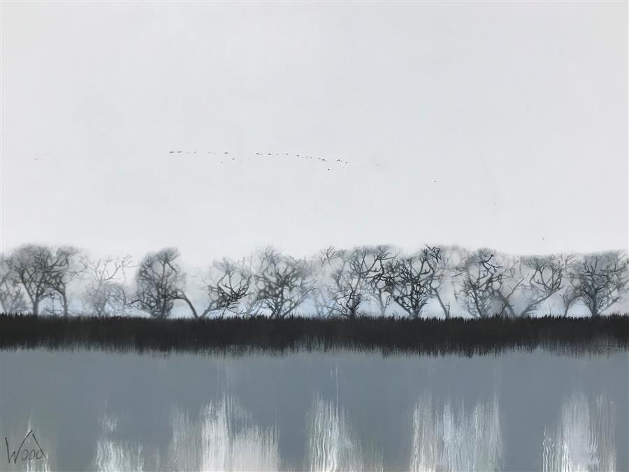 Original art for sale at UGallery.com | Still Waters by MARION WOOD | $3,325 |  | 36' h x 48' w | ..\art\acrylic-painting-Still-Waters-59581