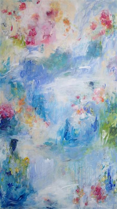 Original art for sale at UGallery.com | In My Memory by HILMA KOELMAN | $4,300 |  | 55' h x 31' w | ..\art\acrylic-painting-In-My-Memory