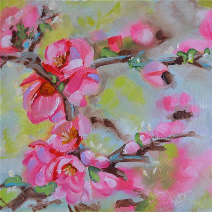 Original art for sale at UGallery.com | Blossom Breeze by RACHEL DOWD | $200 |  | 6' h x 6' w | ..\art\oil-painting-Blossom-Breeze