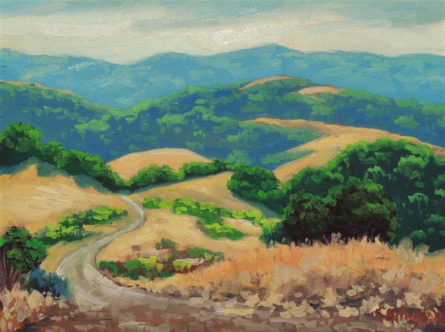 Original art for sale at UGallery.com | Las Trampas Ridge by STEVEN GUY BILODEAU | $550 |  | 12' h x 16' w | ..\art\oil-painting-Las-Trampas-Ridge