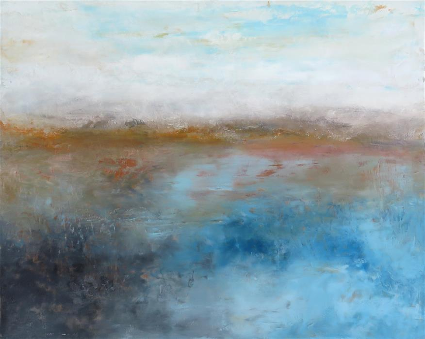 Original art for sale at UGallery.com | Inversion by JENN WILLIAMSON | $750 |  | 16' h x 20' w | ..\art\mixed-media-artwork-Inversion