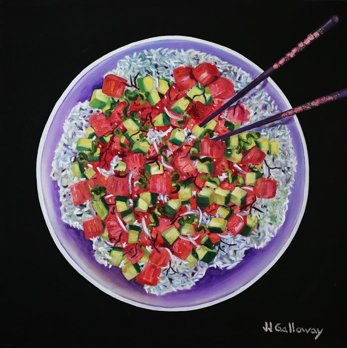 Original art for sale at UGallery.com | Poke Bowl by JJ Galloway | $2,100 | oil painting | 36' h x 36' w | ..\art\oil-painting-Poke-Bowl