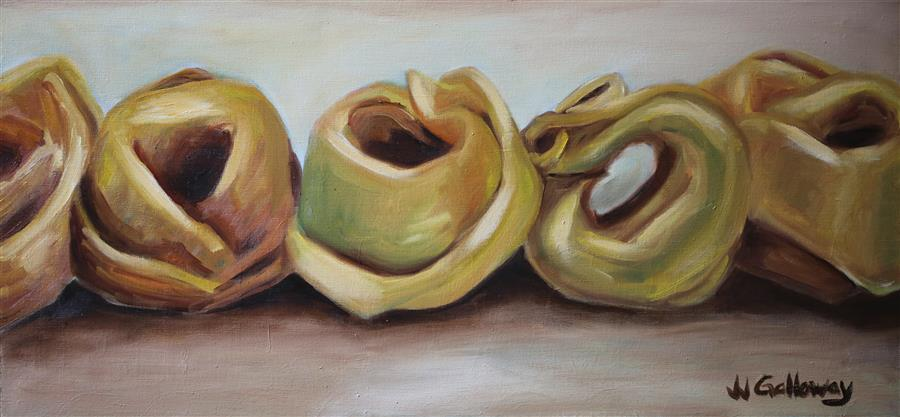 Original art for sale at UGallery.com | Tortellini by JJ GALLOWAY | $650 |  | 14' h x 30' w | ..\art\oil-painting-Tortellini