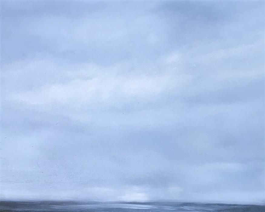 Original art for sale at UGallery.com | Quietly Blue by KELLY MONEY | $525 |  | 20' h x 16' w | ..\art\oil-painting-Quietly-Blue
