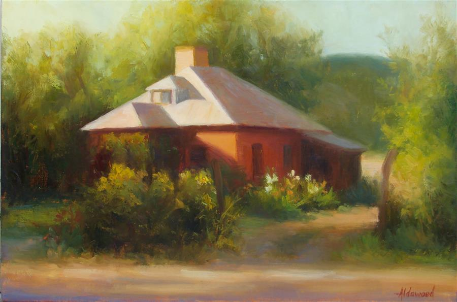 Original art for sale at UGallery.com | Mora Ranch Evening by SHERRI ALDAWOOD | $575 |  | 12' h x 18' w | ..\art\oil-painting-Mora-Ranch-Evening