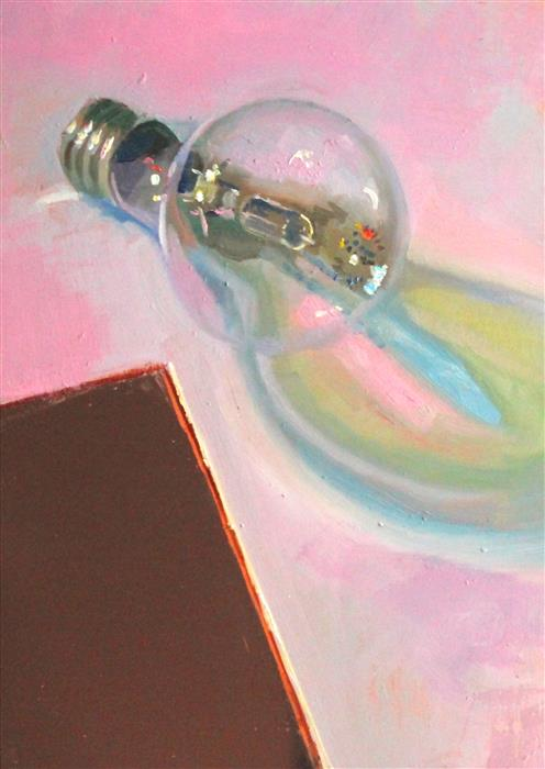 Original art for sale at UGallery.com | Lost & Found Lightbulb by CARL  GRAUER | $500 |  | 7' h x 5' w | ..\art\oil-painting-Lost-Found-Lightbulb