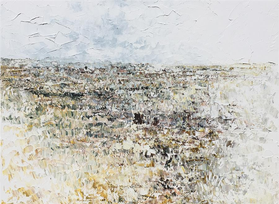 Original art for sale at UGallery.com | Grassland Storm by RUTH LAGUE | $2,800 |  | 30' h x 40' w | ..\art\acrylic-painting-Grassland-Storm