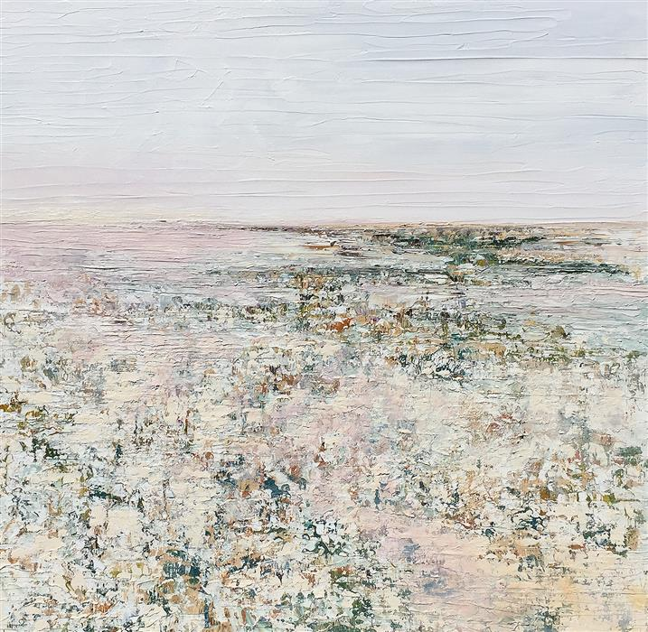 Original art for sale at UGallery.com | Evening by Ruth LaGue | $3,300 | acrylic painting | 36' h x 36' w | ..\art\acrylic-painting-Evening-59952