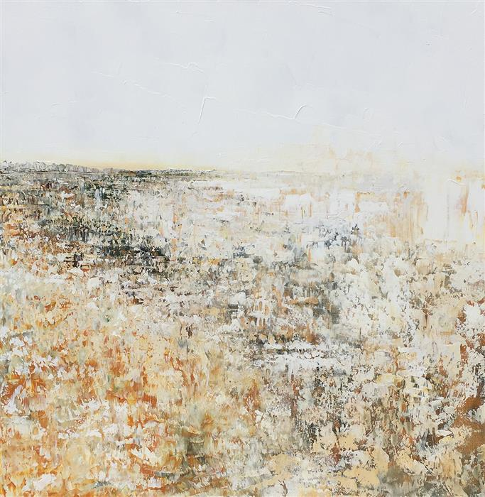 Original art for sale at UGallery.com | Wandering on Rocky Soil by RUTH LAGUE | $3,750 |  | 36' h x 36' w | ..\art\acrylic-painting-Wandering-on-Rocky-Soil