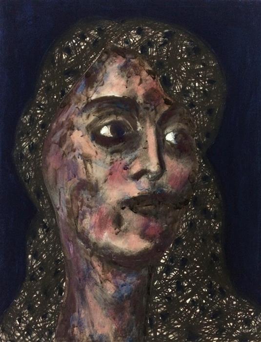 Original art for sale at UGallery.com   Rose #1 by Samuray Akarvardar   $600   mixed media artwork   18' h x 14' w   ..\art\mixed-media-artwork-Rose-1