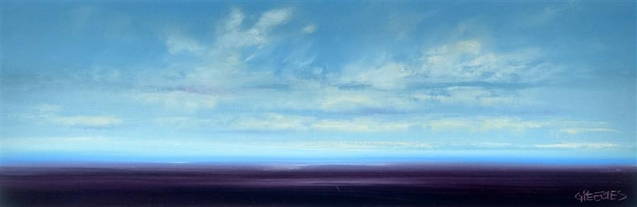 Original art for sale at UGallery.com | Water View 1 by GEORGE PEEBLES | $875 |  | 12' h x 36' w | ..\art\oil-painting-Water-View-1