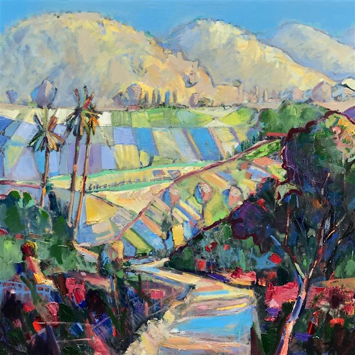 Original art for sale at UGallery.com | In Carmel Valley by JAMES HARTMAN | $5,375 |  | 48' h x 48' w | ..\art\oil-painting-In-Carmel-Valley