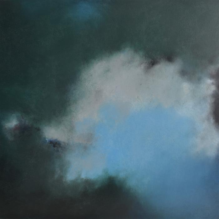 Original art for sale at UGallery.com | Virga by Kerstin Paillard | $2,850 | pastel artwork | 31.5' h x 31.5' w | ..\art\pastel-artwork-Virga