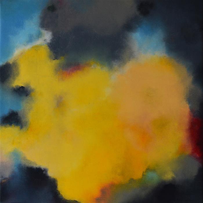 Original art for sale at UGallery.com | Heart of Gold by Kerstin Paillard | $1,500 | pastel artwork | 23.6' h x 23.6' w | ..\art\pastel-artwork-Heart-of-Gold
