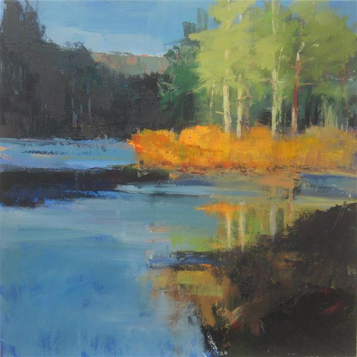 Original art for sale at UGallery.com | Late Sun, Harriman by Janet Dyer | $950 | acrylic painting | 20' h x 20' w | ..\art\acrylic-painting-Late-Sun-Harriman