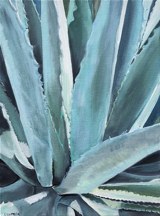 Original art for sale at UGallery.com | Blue Agave by ALANA CLUMECK | $375 |  | 16' h x 12' w | ..\art\acrylic-painting-Blue-Agave