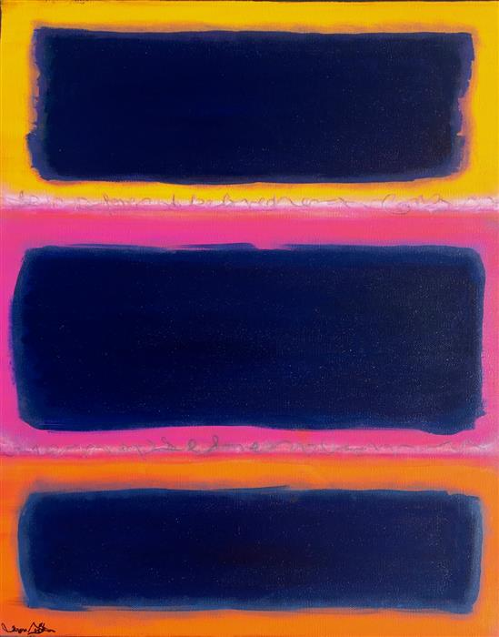 Original art for sale at UGallery.com | Homage to Rothko III by Teresa Dirks | $975 | mixed media artwork | 20' h x 16' w | ..\art\mixed-media-artwork-Homage-to-Rothko-III