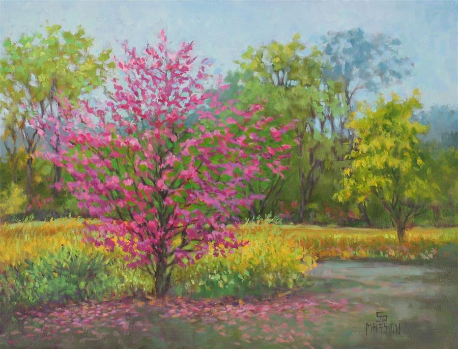 Original art for sale at UGallery.com | Spring's Here by SUZANNE MASSION | $400 |  | 14' h x 18' w | ..\art\oil-painting-Spring-s-Here