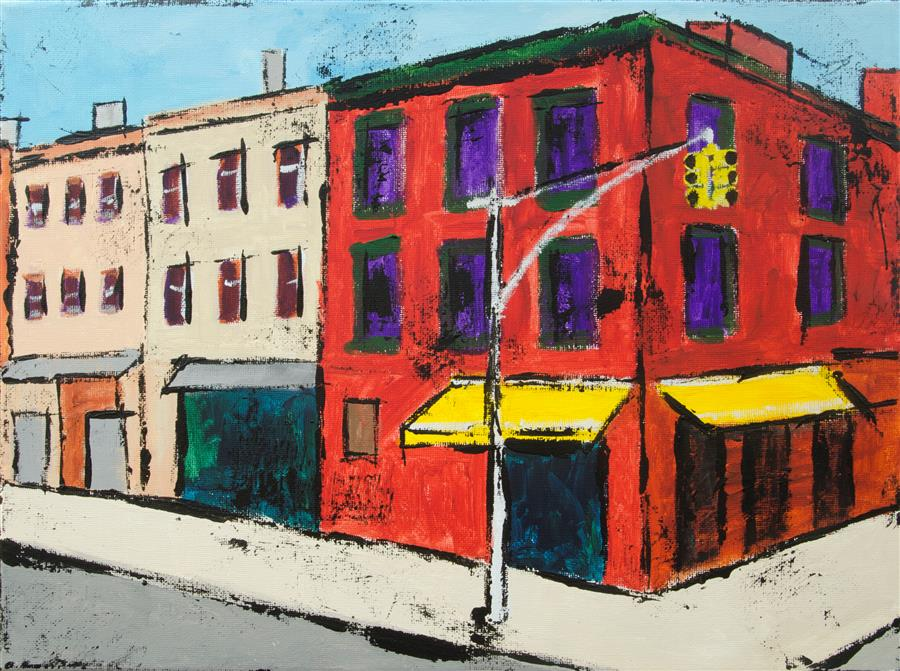 Original art for sale at UGallery.com | Midwood by TANYA GRABKOVA | $475 |  | 12' h x 16' w | ..\art\acrylic-painting-Midwood