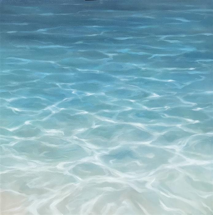 Original art for sale at UGallery.com | Beyond the Shore by LAURA BROWNING | $2,250 |  | 36' h x 36' w | ..\art\oil-painting-Beyond-the-Shore