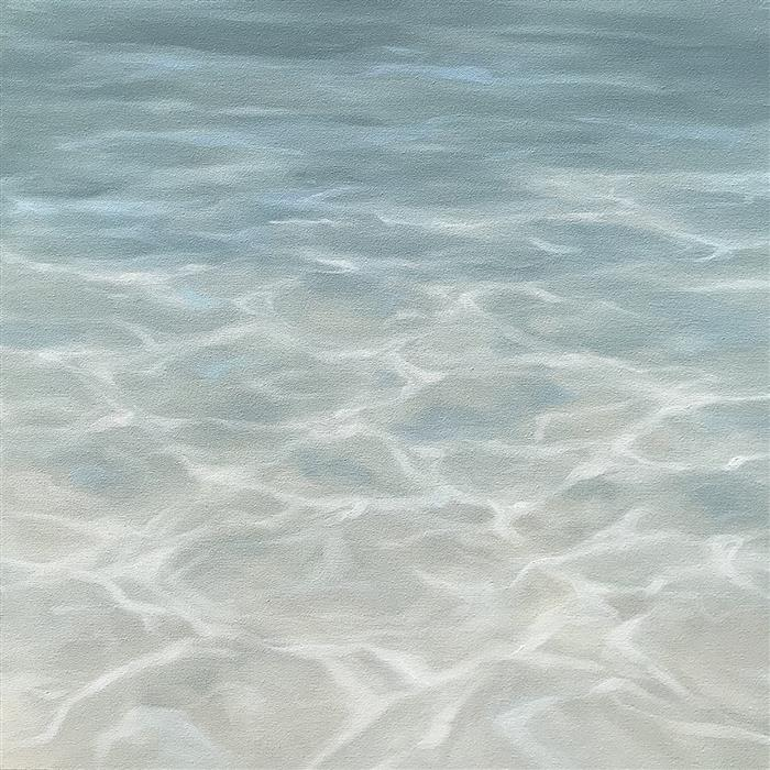 Original art for sale at UGallery.com | Tranquil Bay by LAURA BROWNING | $1,150 |  | 24' h x 24' w | ..\art\oil-painting-Tranquil-Bay